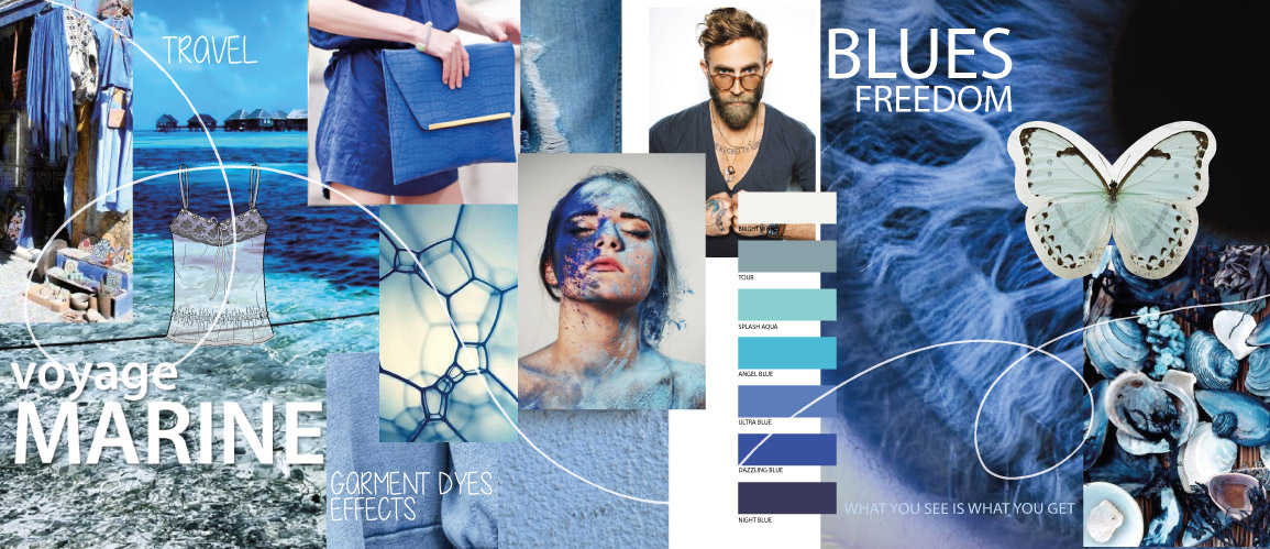 Blue moodboard